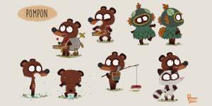 Affiche de l'animation Pompon Ours